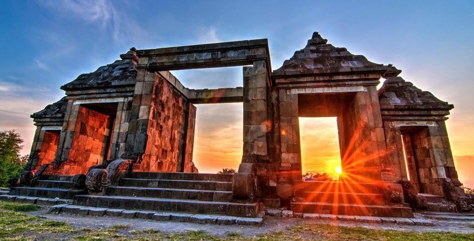sunset di Situs Ratu Boko